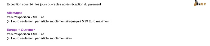 Expdition sous 24h les jours ouvrables aprs rception du paiement Allemagne: frais d'expdition 2,99 Euro (+ 1 euro seulement par article supplmentaire jusqu' 5,99 Euro maximum) | Europe + Outremer: frais d'expdition 4,99 Euro (+ 1 euro seulement par article supplmentaire)